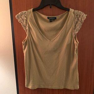 Women's Ralph Lauren tan top size medium